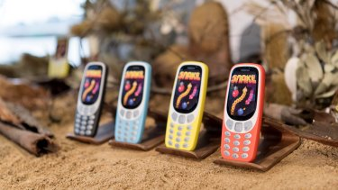 The phone comes in a choice of colourful bodies.