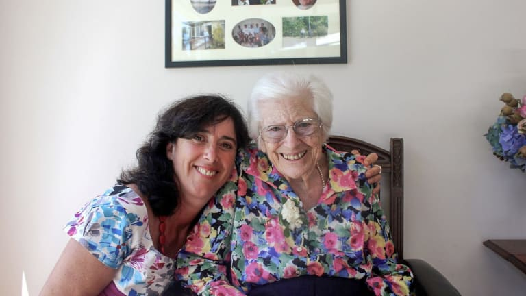 Sarah and Joan Russell taken in 2012, three years before Joan died.