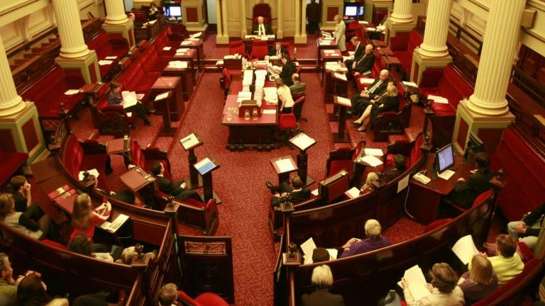 Victoria's Legislative Council debates the bill to decriminalise abortion in October 2008.