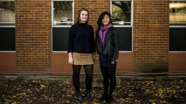 Kate Butler and Gina Zheng, both 19, have started Enrol 4 Change, an organisation dedicated to getting young Canberrans enrolled to vote.