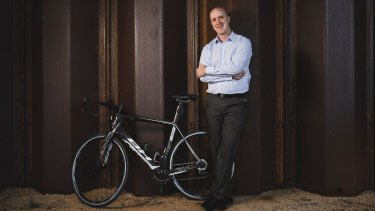 Richard Keegan will be part of a panel discussing options to boost the number of Canberrans riding to work.