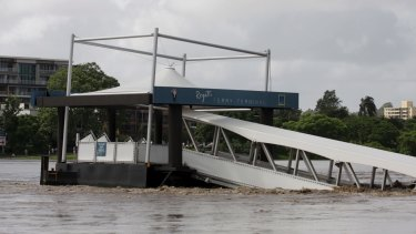 The Regatta City Cat terminal was badly damaged in the 2011 floods.