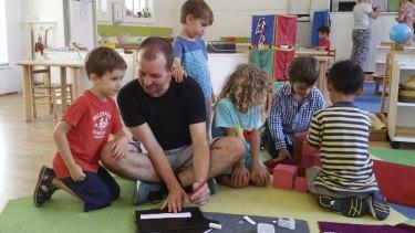 Alex Dillon says Montessori teaching is 'deeply satisfying'.