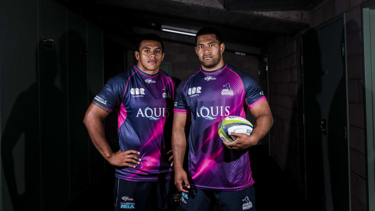 Brumbies props Alan Alaalatoa and Scott Sio hope to play for the Wallabies together.