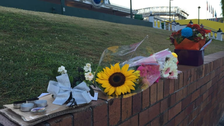 Flowers left in tribute for the four people killed at Dreamworld.
