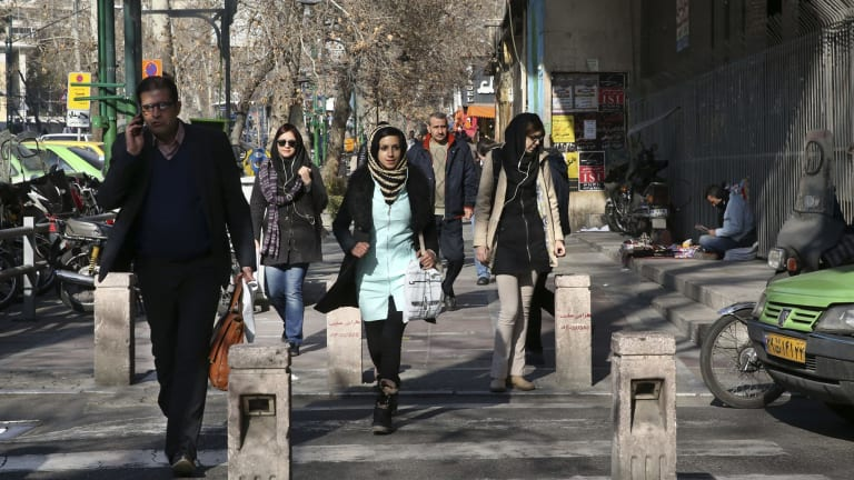 """A street in central Tehran. """"People are friendly and helpful, and it's far more liberal than I'd expected."""""""