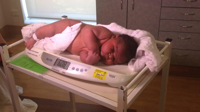 Brian jnr was born weighing six kilos on Tuesday morning.