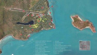 An artist impression of the White Horse Australia Lindeman development proposed for Lindeman Island.