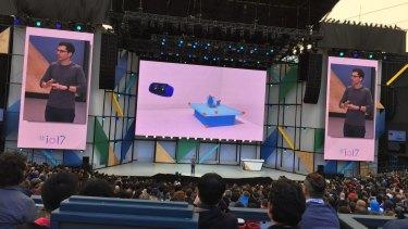 Clay Bavor, head of Google's VR division, speaks at I/O.