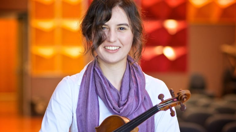 Canberra Youth Orchestra concertmaster Helena Popovic.