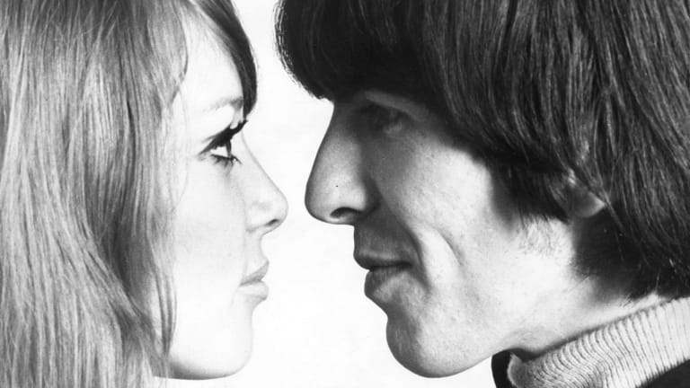 George Harrison and wife Pattie Boyd.