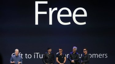 Free gift: The promotion announced by U2 Apple's Tim Cook was not appreciated by all.