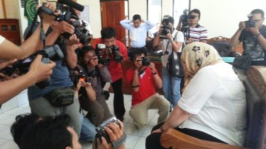 British drug smuggler Lindsay Sandiford in court in Bali in 2013.