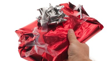 Many unwanted Christmas gifts are passed on to a new recipient.