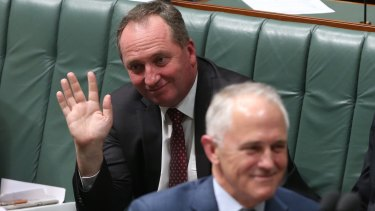 Barnaby Joyce finds himself sitting in high office only because the much bigger beast has carried him there.