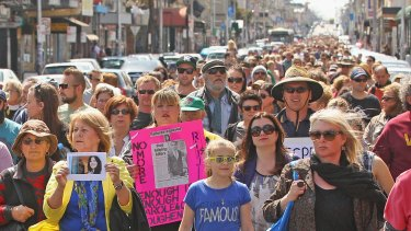 Thousands took to the streets after Jill Meagher was killed.
