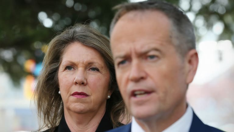 Labor's health spokeswoman Catherine King with Opposition Leader Bill Shorten.