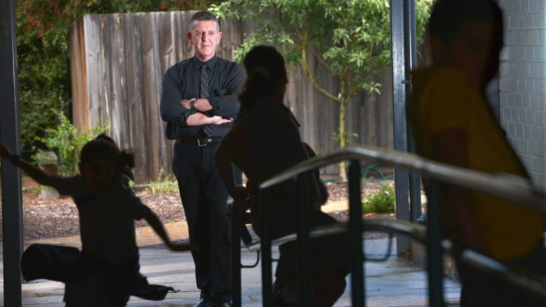 Principal at Holy Child Primary School, Dallas - Alan Smith. Students in the disadvantaged Victorian region are missing school during certain times of the year.