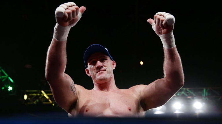 Undefeated: Paul Gallen had plenty to lose.
