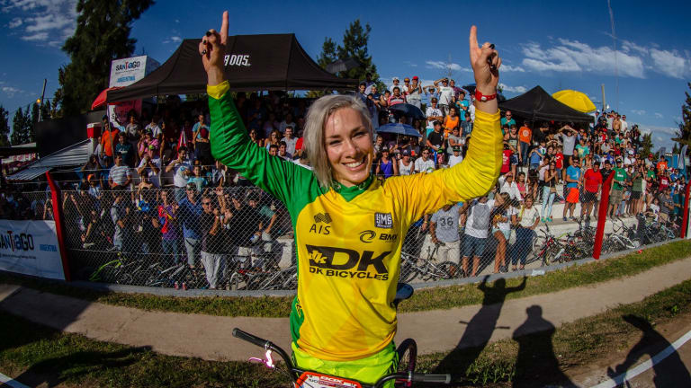 BMX champion Caroline Buchanan could be back racing by April/May.