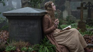 """Elle Fanning as Mary Shelley, who understood that """"imperfection is perfection""""."""