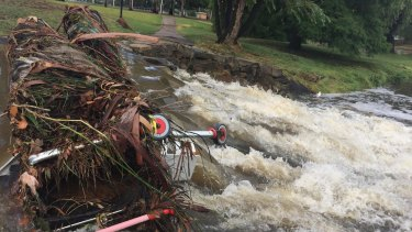 Parts of ANU remain closed after the campus was badly affected by Sunday's rain.