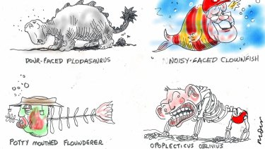 ECOLOGICAL CRISIS ... NEAR EXTINCT SPECIES Illustration: Alan Moir