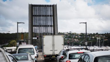 The Spit Bridge is part of one of Sydney's most notorious traffic snarls.