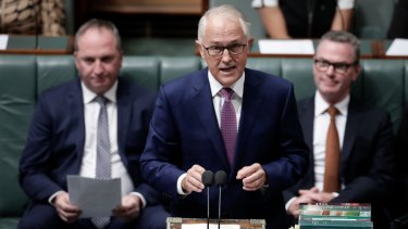 Malcolm Turnbull in Question Time on Thursday.