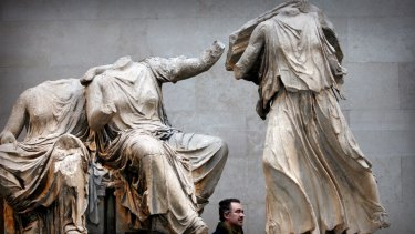 Part of the Elgin Marbles collection at the British Museum in London.