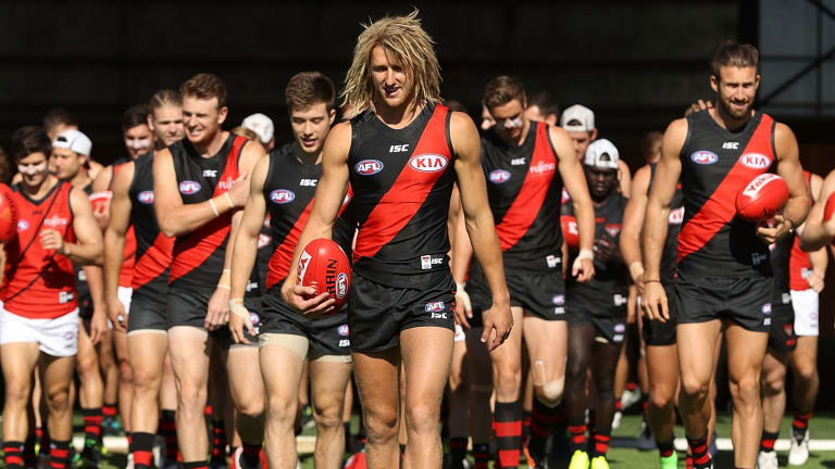 'No robot': fans welcomed Heppell's appointment as the new skipper led the Dons out for a practice match at Tullamarine today.