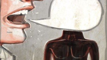 Language is how thoughts present themselves to us all dressed up. <i>Illustration: Michael Mucci.</i>