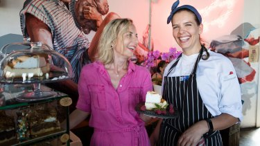 Owner Anna Allison and chef Joice Rosa at the Lion and Buffalo cafe in South Coogee.