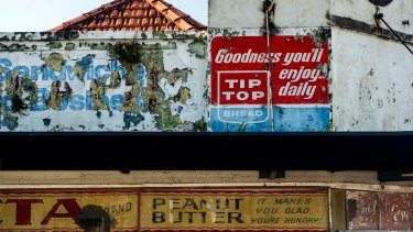 A ghost sign on the wall of an old corner store on Junction Road, Summer Hill.