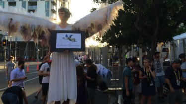 The Climate Guardians featured at Saturday's people's march to the G20 in Brisbane.
