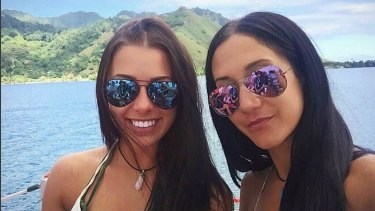 Isabelle Lagace, 28,(right) has pleaded guilty to importing cocaine. Her travel companion Melina Roberce, 22, (left) appears in court again next week.