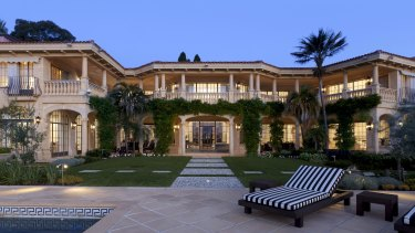 Forced sale: The home at Villa del Mare bought by Chinese billionaire Xu Jiayin.