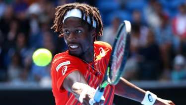Crowd-pleaser: Frenchman Gael Monfils has reached the quarter-finals only six times in all major tournaments in a career spanning 12 years.