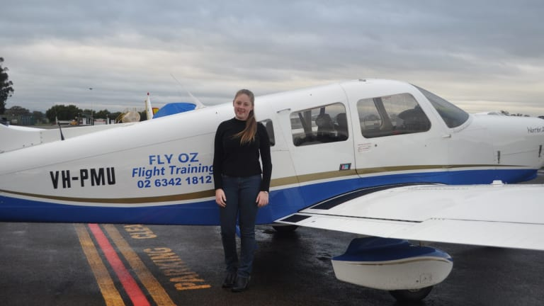 Jade Esler took her maiden solo flight on her 15th birthday last week.