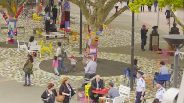 A pop-up social experiment was completed at Garema Place, Canberra at the end of last year.