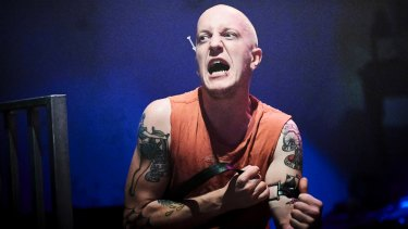 Trainspotting . The Vaults Waterloo. CREDIT Geraint Lewis Gavin Ross as Renton in Trainspotting, the stage show.