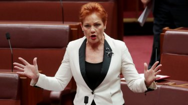 """One Nation leader Pauline Hanson wants the ABC to disclose presenter salaries and insert the words """"fair and balanced"""" into its charter."""