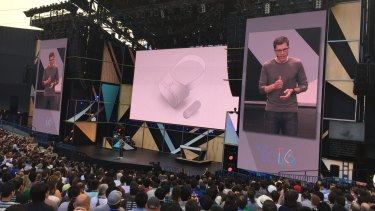 Clay Bavor, the leader of Google's VR division, announces Google Daydream.