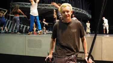Australian rigger Robert Wilson working at the Impact Arena in Bangkok during the Quidam tour in August.
