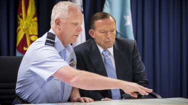 Air Chief Marshal Mark Binskin and Prime Minister Tony Abbott.
