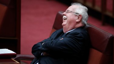 When Nationals senator Barry O'Sullivan, pictured, decided to join his colleague John Williams to back a banking commission of inquiry, it was game on.