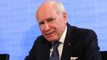 Former prime minister John Howard at the National Press Club in Canberra on Wednesday.