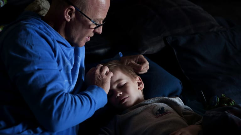 Oshin with his father Colin Strachan.