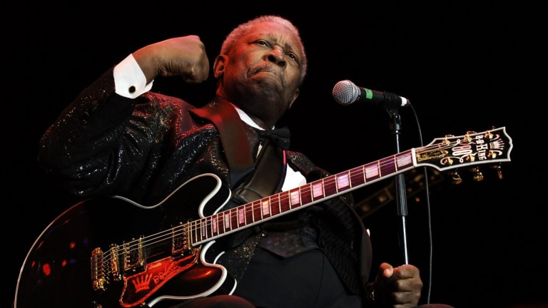 Blues legend BB King, pictured here performing in London in 2006.