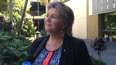 Hetty Johnston formally announces her candidacy to become Logan mayor two months ago.